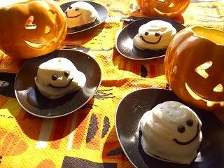 ハロウィンだからね、お化けのケーキ♪