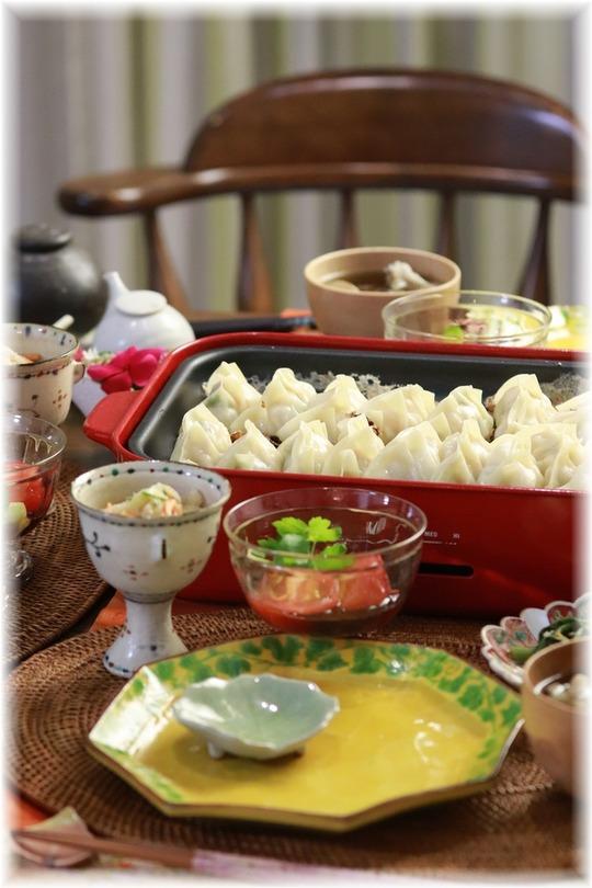 【レシピ】海老紫蘇餃子。と 献立。と 夏休みありがとう!。