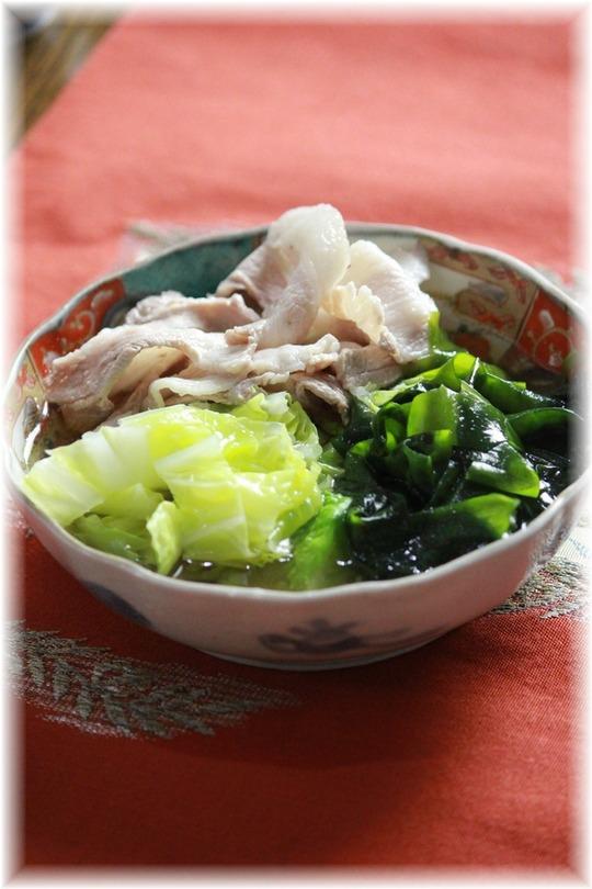 豚肉とわかめと白菜2