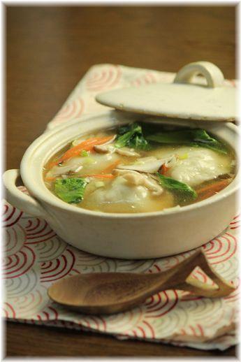 もちもち点心スープ。 と献立。