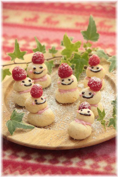 おから の 雪だるまクッキー。
