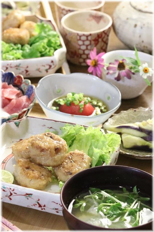 【レシピ】お豆腐とりつくね。と 献立。と 買えないテーブル。
