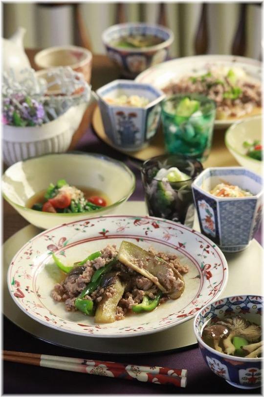 【レシピ】レンチン味噌野菜炒め。と 献立。と 傘の隙間。