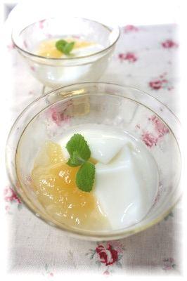 さっぱり・リンゴの杏仁豆腐。