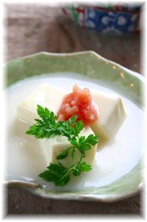 お豆腐とたらこのクリームシチュー。 と献立。