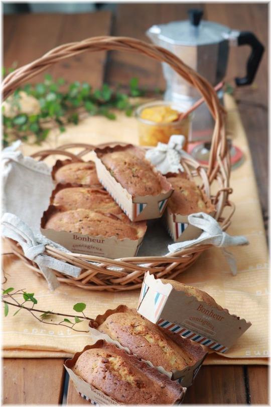 【レシピ】粉要らずレシピ・混ぜて焼くだけ。上新粉で作るコーヒーとオレンジのミニパウンドケーキ。と いってらっしゃい の まわり。