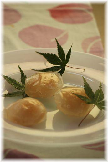 桃ゼリー葛餅。