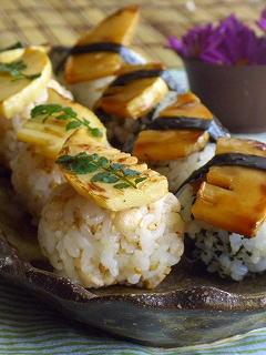 筍のお寿司・2種。