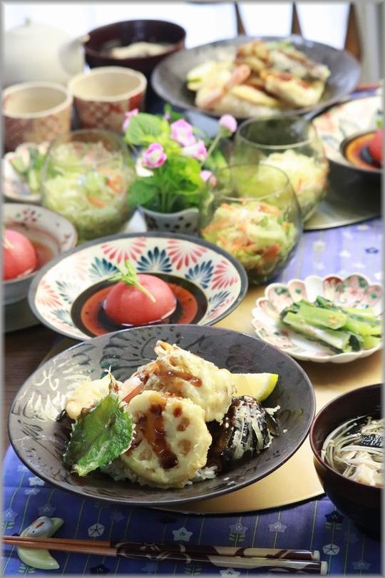 【レシピ】サクサク天丼。の お昼ごはん。と 半沢直樹とお父さんと堺雅人