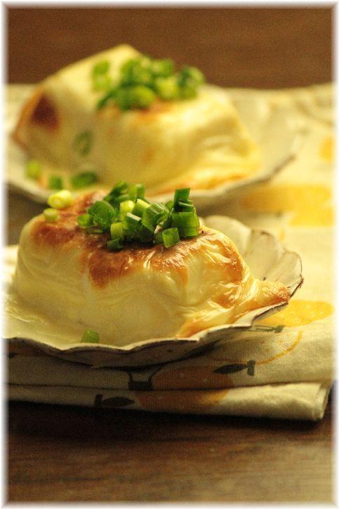 絹豆腐のチーズ焼き。 と 献立。