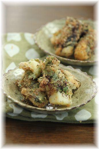 長芋のおかかゆかり天ぷら。 と お弁当。