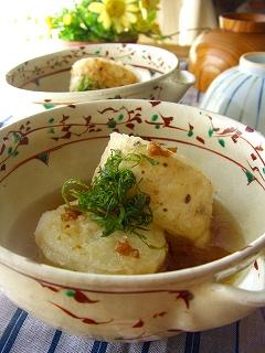 揚げ出し長芋・梅紫蘇風味。