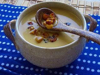 YOMEちゃんのブログ-お祭り☆スープ(焼きとうもろこしのスープ)