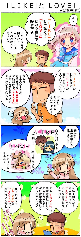 「LIKE」と「LOVE」