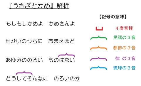 うさぎとかめ(日本音階的解析)