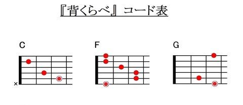 『背くらべ』コード表