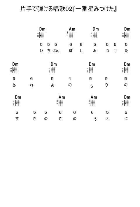 片手で弾ける唱歌02『一番星見つけた』