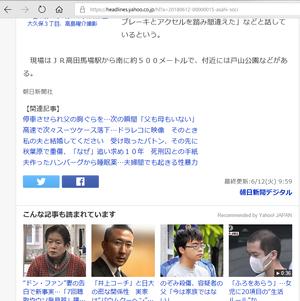 乗用車が暴走、6人はねられけが 運転の男逮捕 新宿(本記事2)