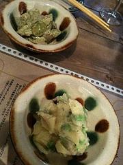 自家製ポテサラと、蛸とアボカドのサラダ