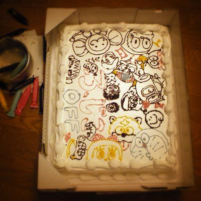 120609お絵描きケーキ