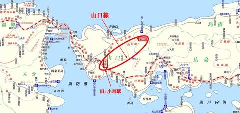 山口線路線図