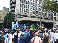 Parade in Bogota