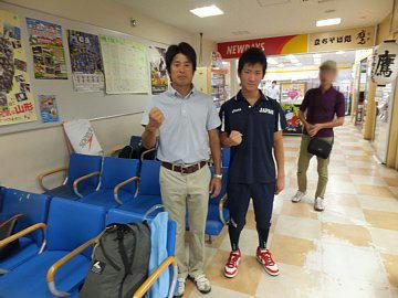 全中大会に出発 : 米沢市立第四中学校臨時ホームページ