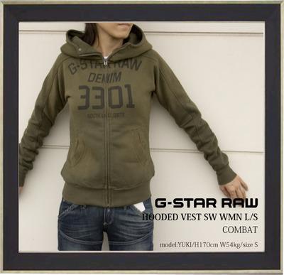 gstarプリントパーカーc1