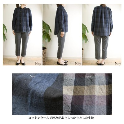 pulチェックシャツ2