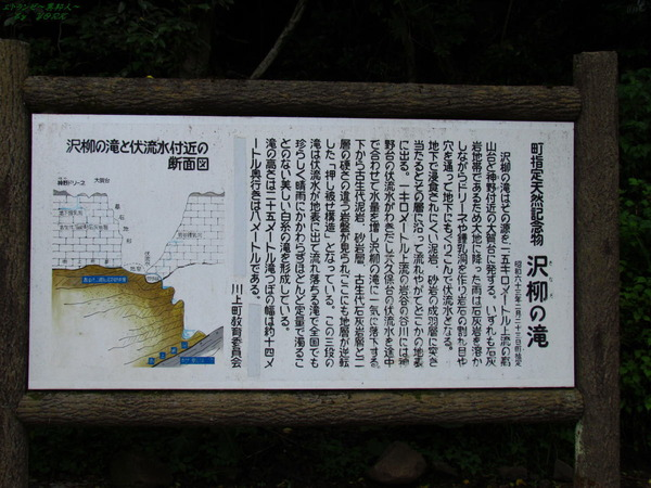 6297沢柳の滝説明板180610