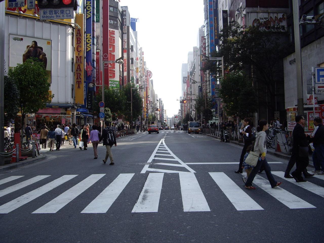 新宿のとある通り