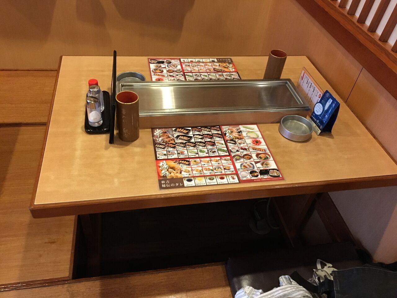 秋吉のテーブル