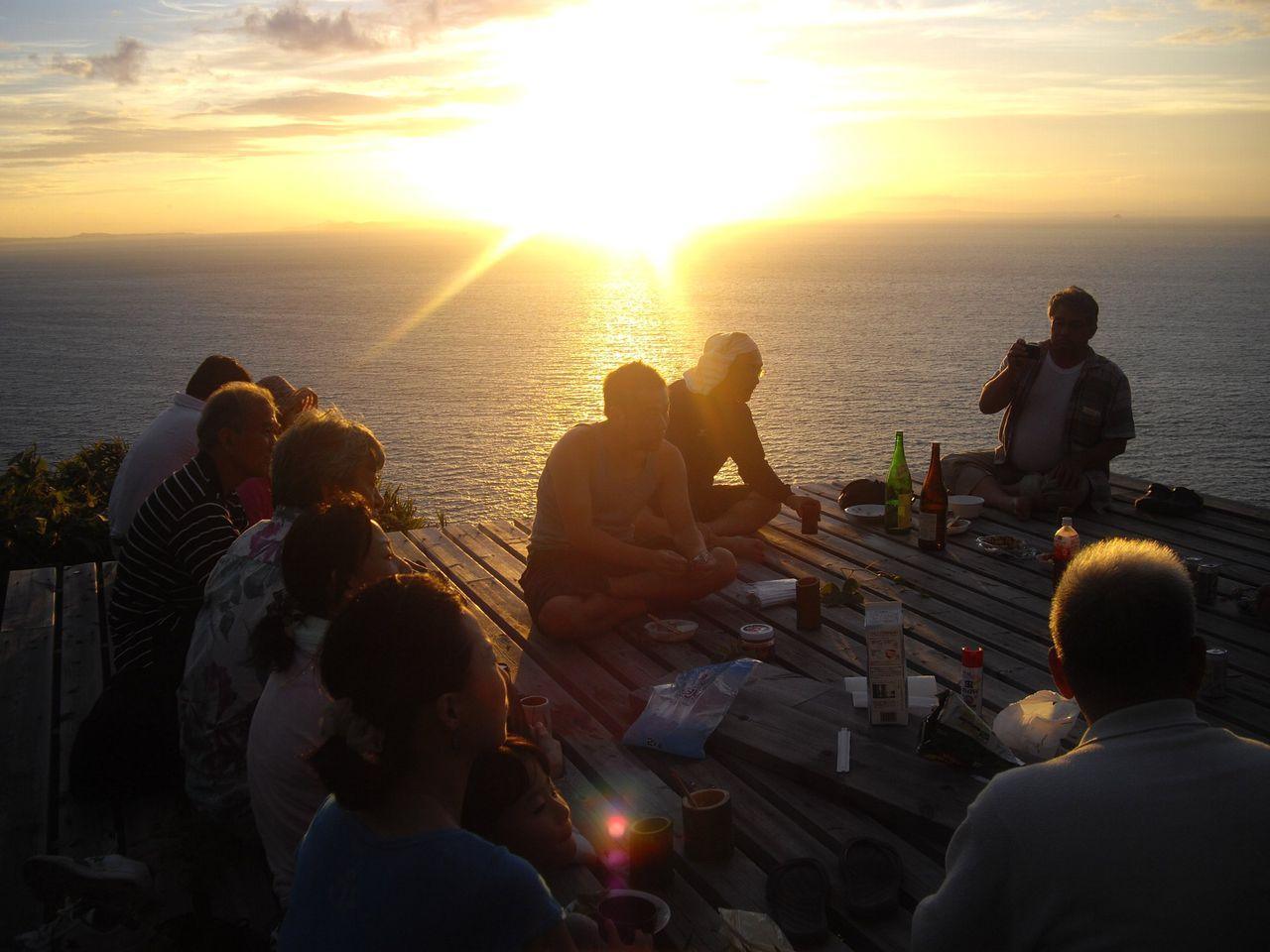 『九州いろり塾』(福岡)海賊の見張り台の宴3(夕陽)