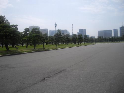 皇居の風景4(遠くに見えるビル群)