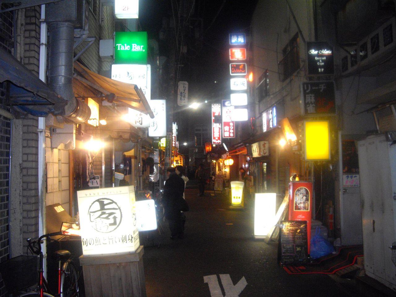 新橋裏通り(夜)1