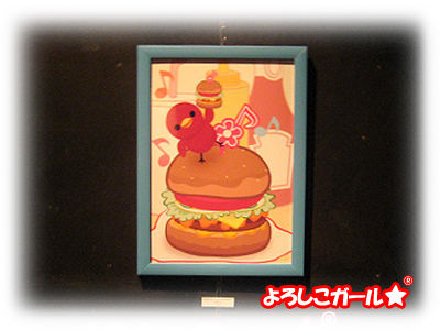 あずきちゃんとハンバーガー☆ グループ展示にて