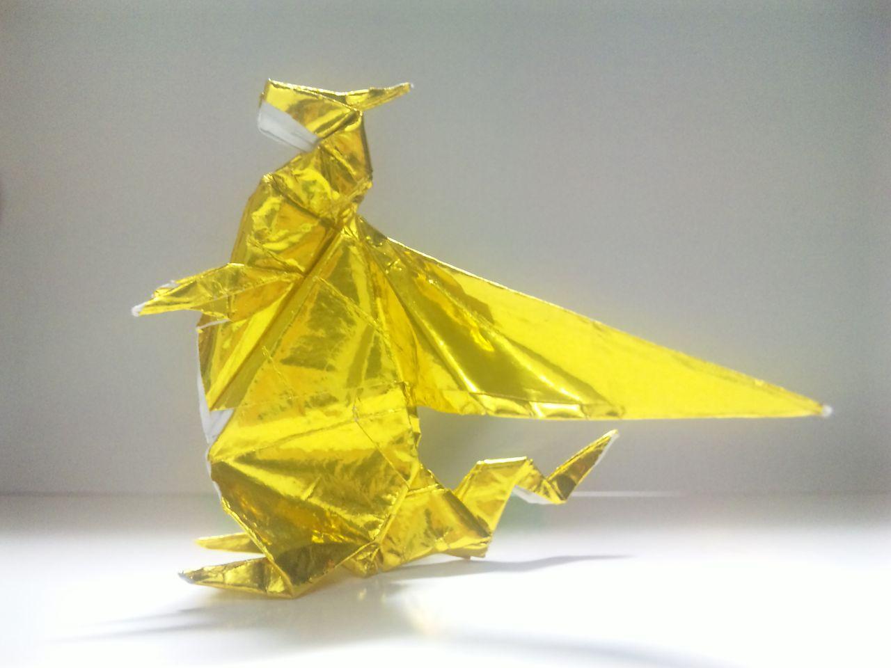 すべての折り紙 折り紙 星の折り方 : ... you tube ドラゴン の 折り 方