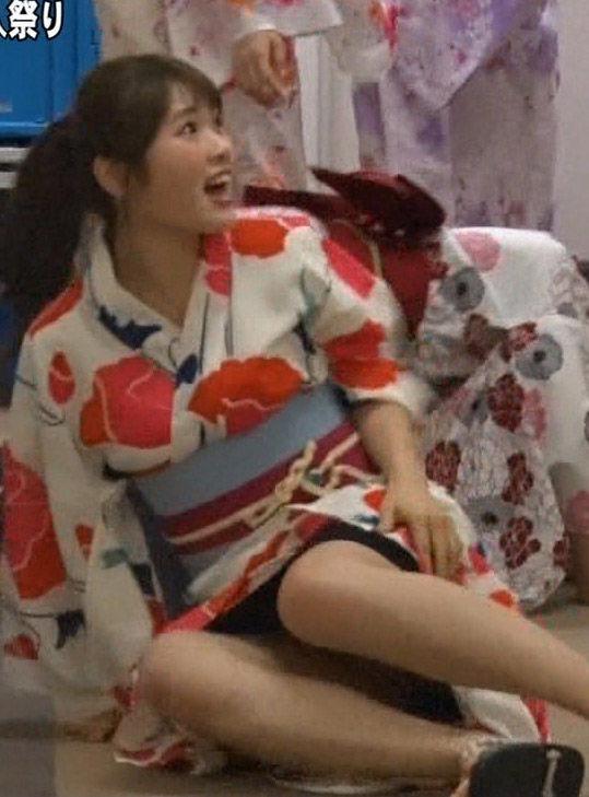 NMB48渋谷凪咲(20)浴衣姿でパンチラ放送事故しててクッソ抜けるww【エロ画像】
