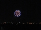 丘の上から観た花火2