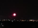 丘の上から観た花火1