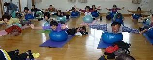 ボール・エクササイズ教室の画像