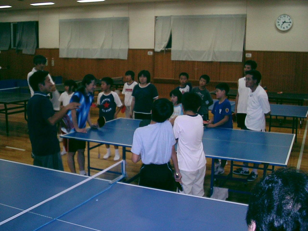 土曜日の卓球教室の画像