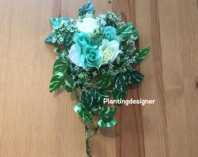 100円ショップの造花ハンギング:グリーン