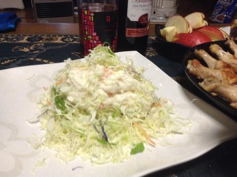夕飯-1 サラダ