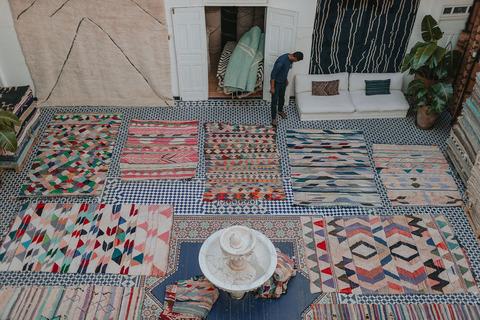 Boucherouite kilim exhibition at ヒシガタ文庫