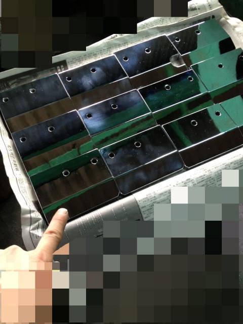 プレート表面へハードクロームメッキを30ミクロン<br> 施しバフ仕上げをさせて頂きました