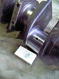 船舶系、(エンジン)クランクシャフトの肉盛り修復