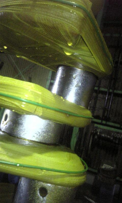 ジャーナル及びピンの計9ヶ所)を硬質クロームメッキ<br> にて1mm以上肉盛りを行いスタンダード仕上にする
