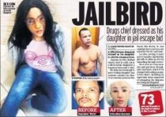 娘(19)に女装し脱獄を試したギャング(42)失敗し自殺