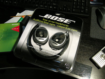 BOSE on-ear headphones